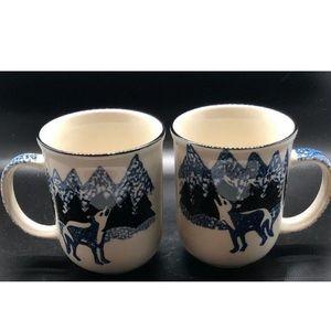Tienshan Folk Craft Wolf Coffee Mugs Tea Cups 2